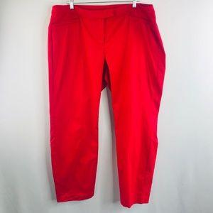 Lane Bryant red slacks sz:20 NWT
